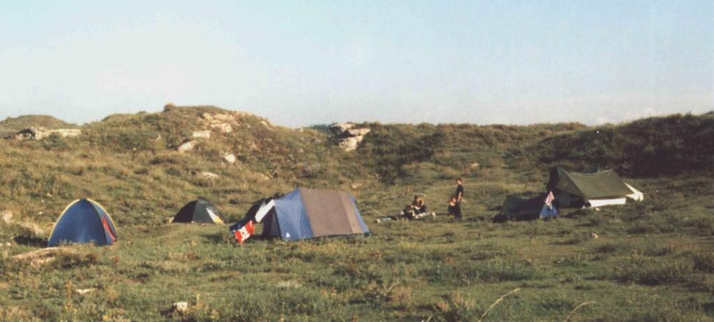 Лагерь экспедиции. Аджимушкай 2003 г.